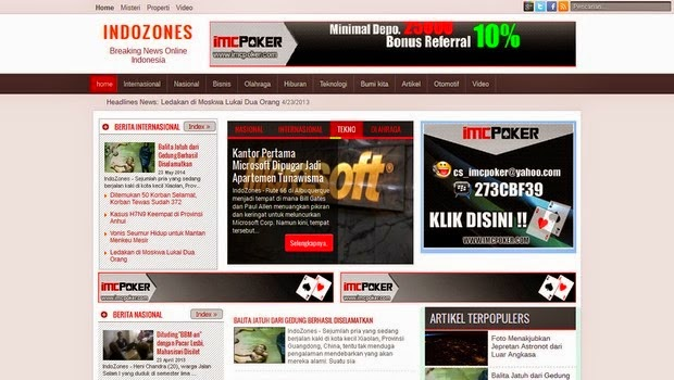 IndoZones News Magazine Blogger Template
