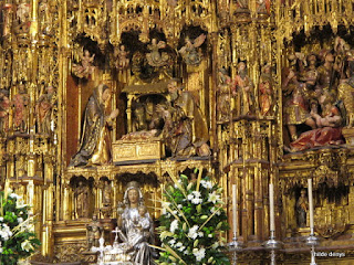 Detail of Altar piece, cathedral of Seville, Spain