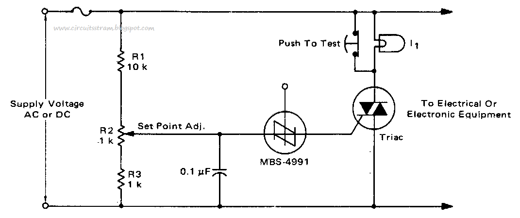 Crowbar Circuit Diagram For Ac Or Dc Lines Electronic