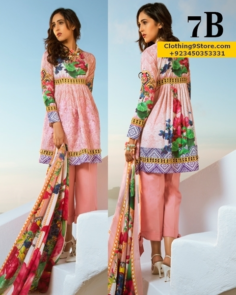 Honey Waqar Eid Embroidered Lawn 2017