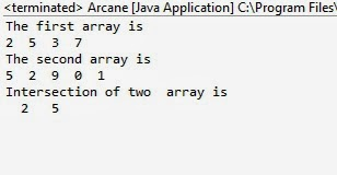 Intersection of two arrays in java with example | Java Hungry