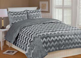 gray chevron bedspread