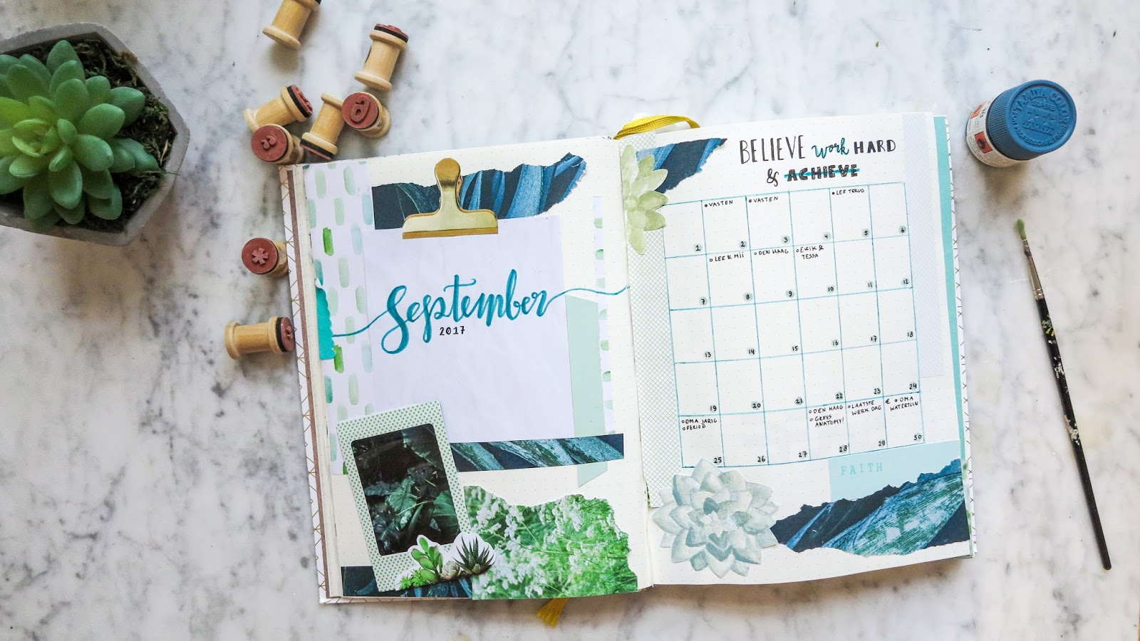 Bullet Journal Plan with me September 2017