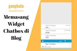 memasang widget chatbox