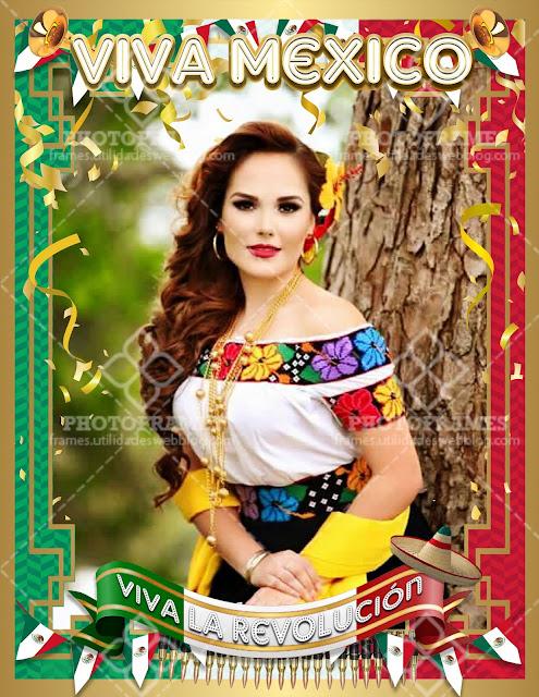 Marco para fotos de la revolución mexicana
