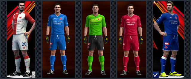 PES 2013 SK Slavia Prague Kit Season 2016-2017