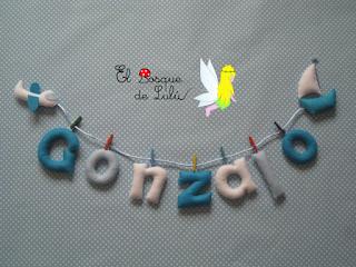 nombre-fieltro-Gonzalo-hechoamanoparati-elbosquedelulu-regalo-nacimiento-original-personalizado
