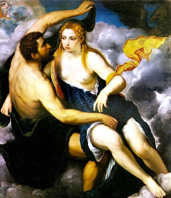 Paris Bordon - Giove e Io - erotismo - arte - dipinti
