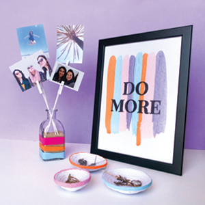 DIY 3 Colorful Room Decor Items