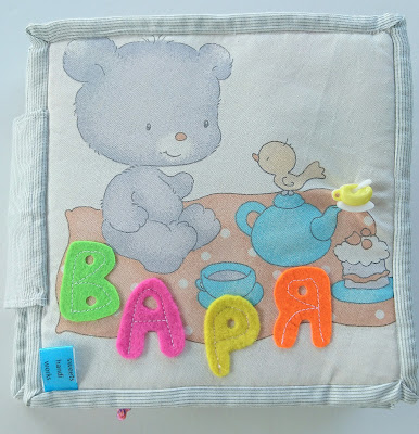 Soft interactive book for babies