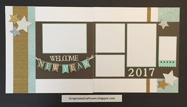 Welcome New Year layout using Oh Deer! paper - ScrapmomsCraftRoom.blogspot.com #ctmhohdeer