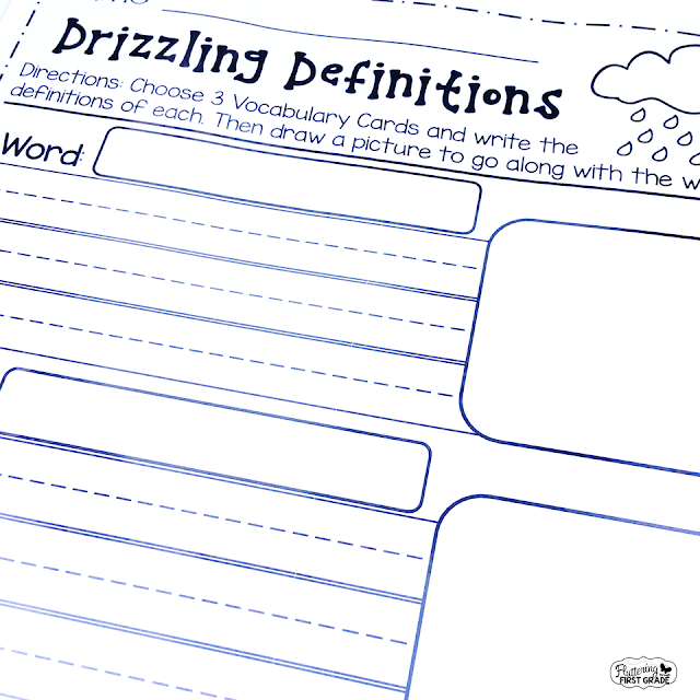 Weather vocabulary activities for the primary classroom