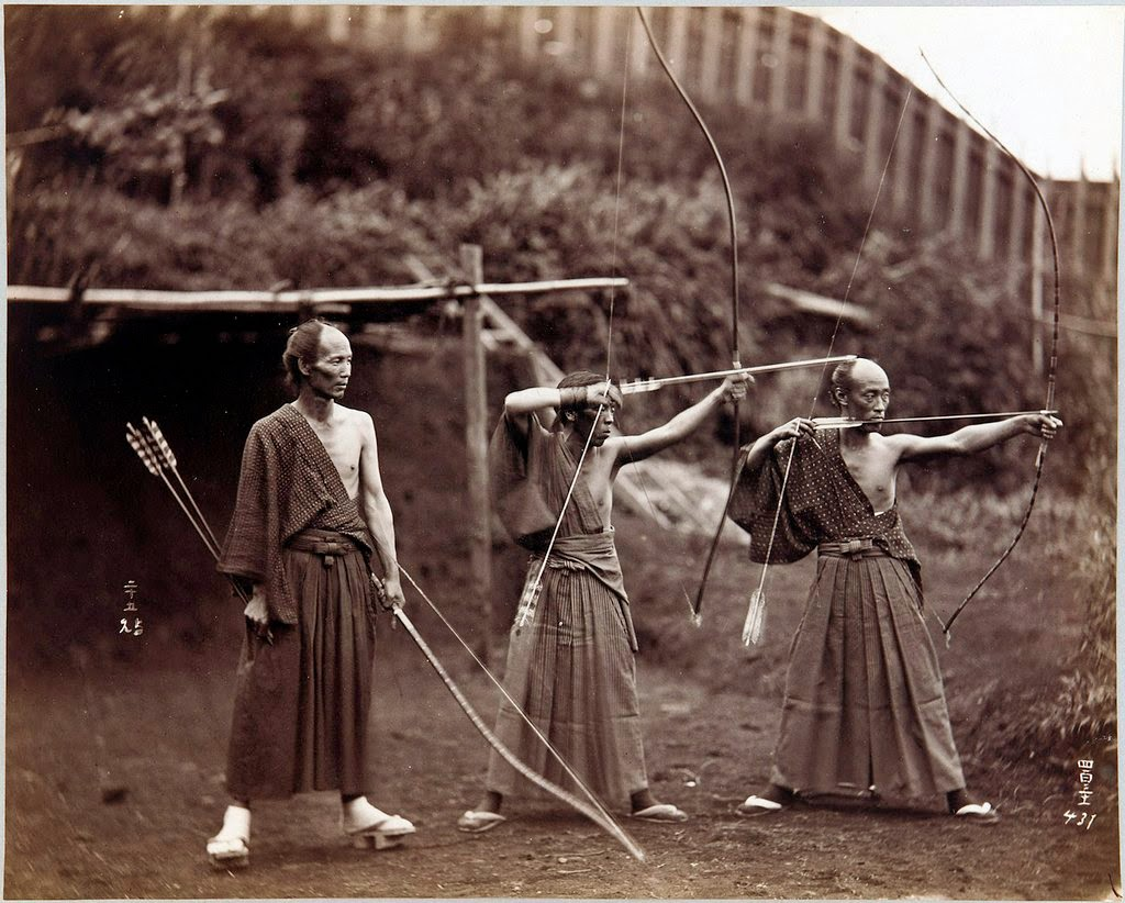 Ultimate Collection Of Rare Historical Photos. A Big Piece Of History (200 Pictures) - Three Archers, Japan (ca. 1870-1880)