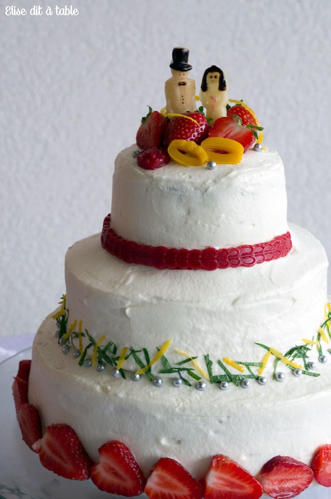 recette wedding cake mojito