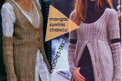 Entre Ideas. Mangas Sueltas Tricot-Crochet