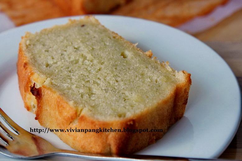 Durian Pound Cake Recipe