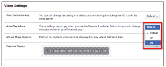 How to Turn Off Videos in Facebook