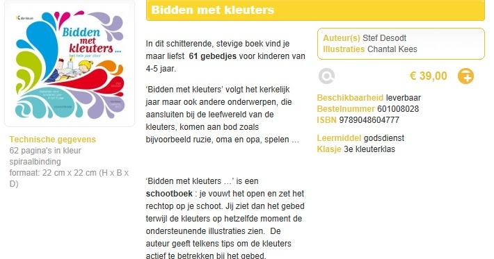 Verrassend Bidden met kleuters: Schootboekje 'Bidden met kleuters' Stef YM-73