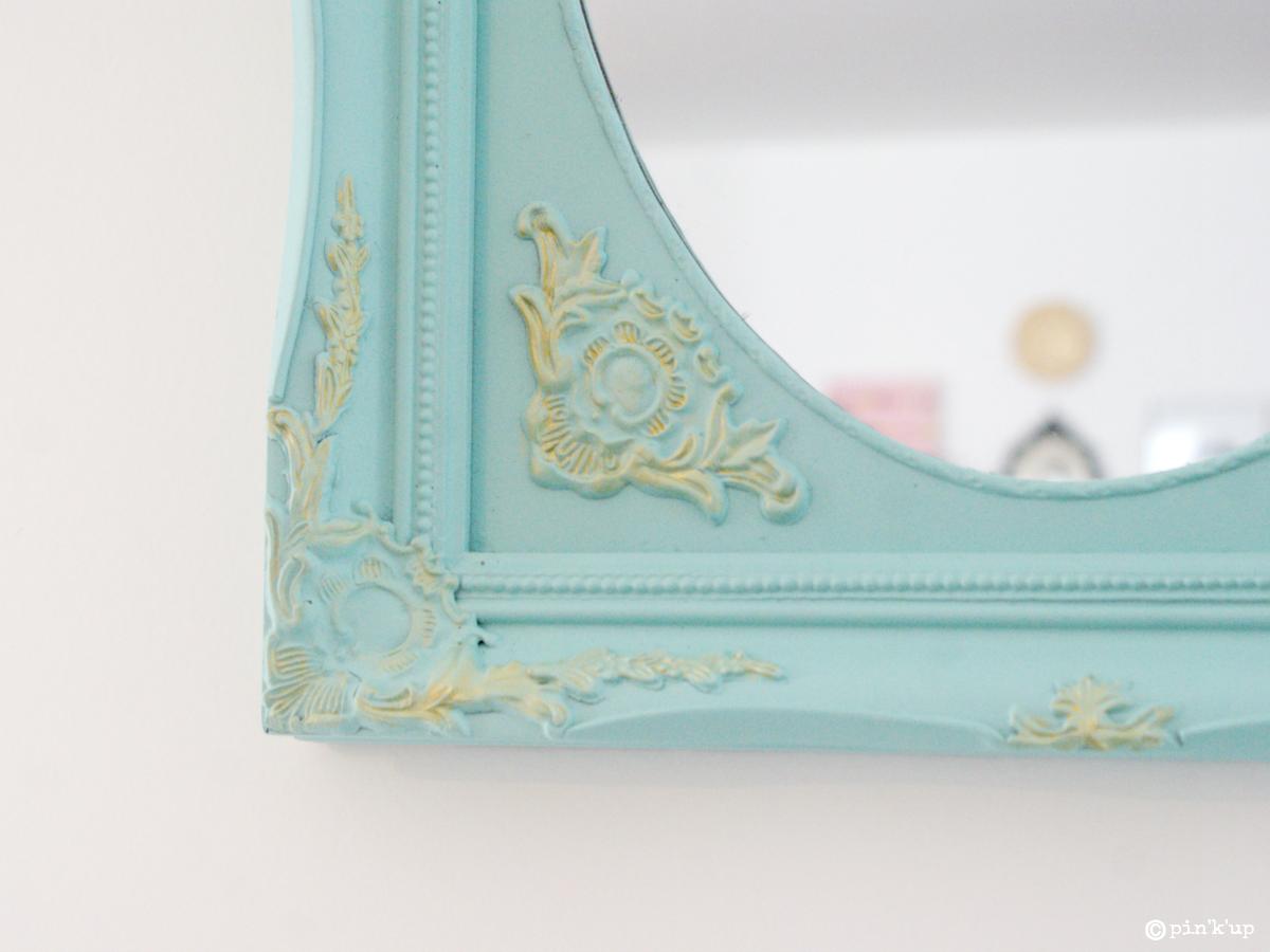 Pin 39 k 39 up d co le miroir baroque et le coussin - Peindre un miroir dore ...