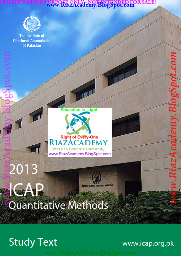 Quantitative Methods-STUDY TEXT-  by ICAP