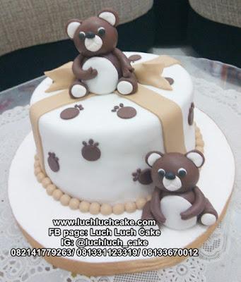 Kue Tart Ulang Tahun Teddy Bear