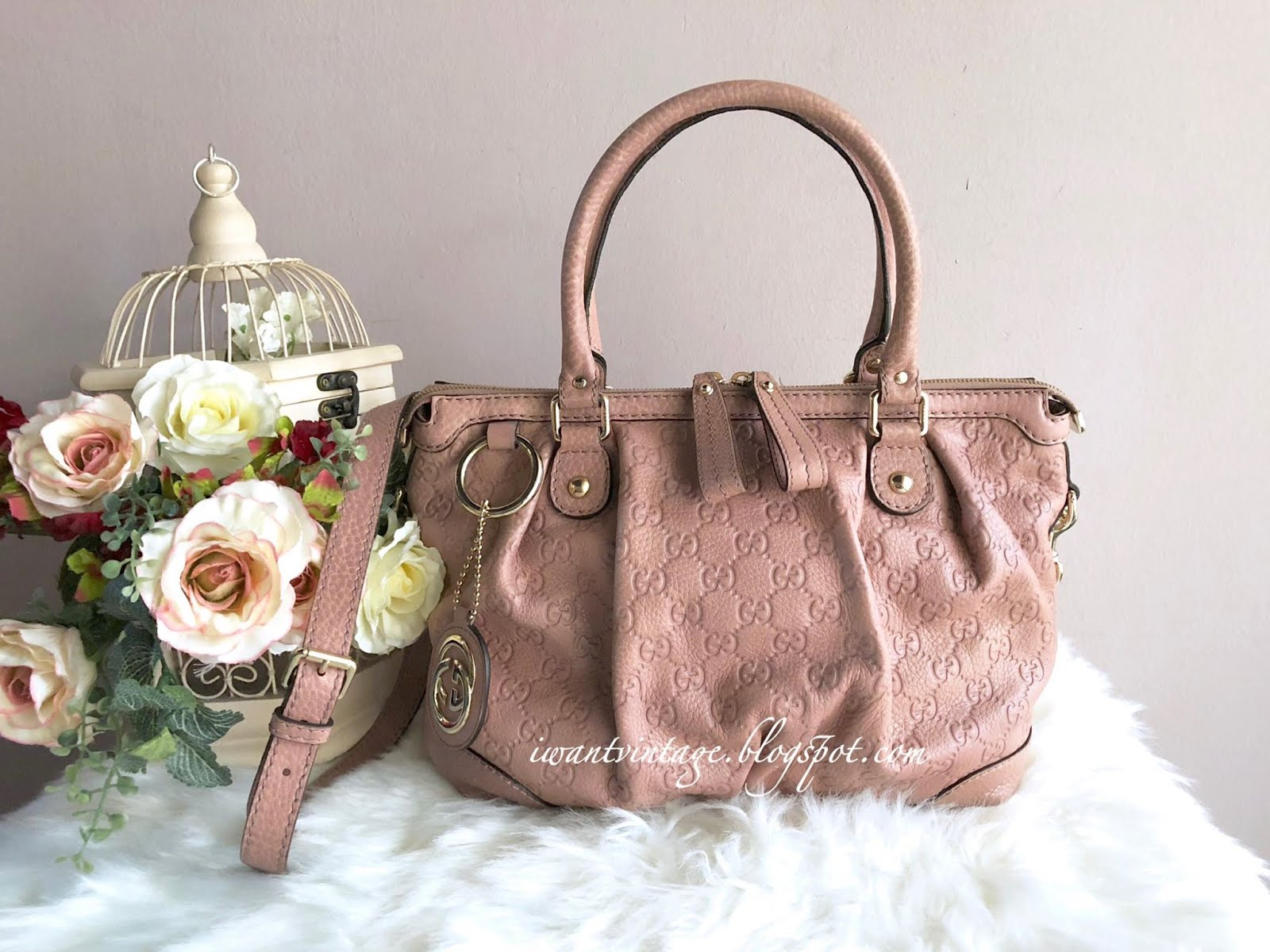 20447729502 Gucci Sukey Guccissima Leather Top Handle Bag-Pale Pink