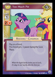 My Little Pony Too Much Pie Premiere CCG Card