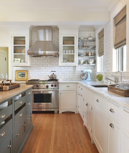 Every Pretty Penny Gold And White Kitchen