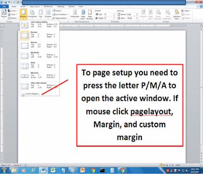 MS-Word Settings