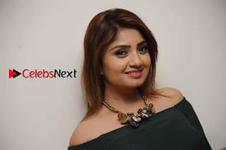 Kannada Actress Karunya Ram Stills in Strapless Green Short Dress at Eradu Kanasu Movie Press Meet  0014.jpg