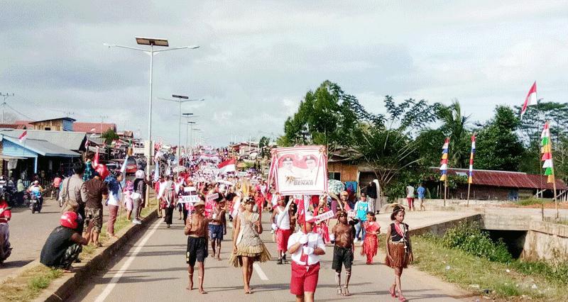 Masyarakat Mappi Gelar Karnaval Budaya Sambut Hut Ri Ke 72 Dharapos Papua