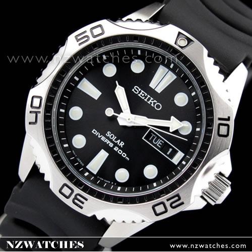 Seiko Solar 200m Black Driver Sports Men s Watch SNE107P2 9e98fb67f81e
