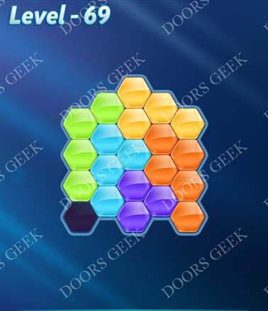 Block! Hexa Puzzle [Intermediate] Level 69 Solution, Cheats, Walkthrough for android, iphone, ipad, ipod