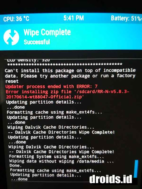 error 7 twrp