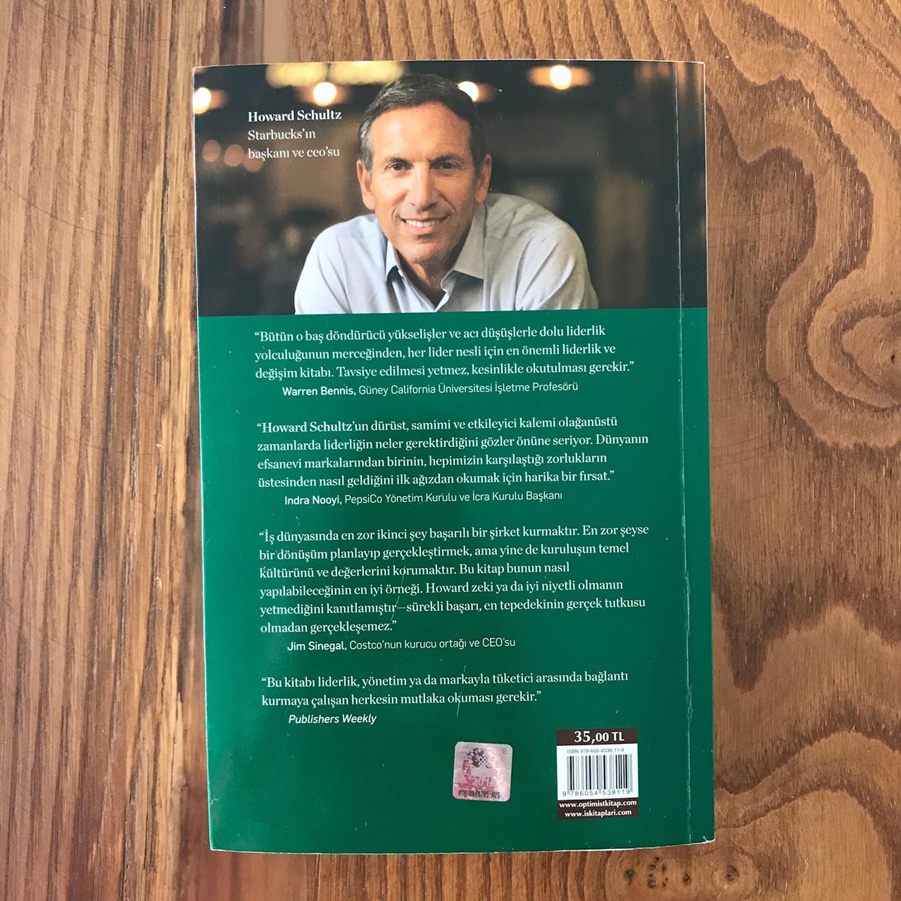 Onward - Starbucks (Kitap) Arka Kapak