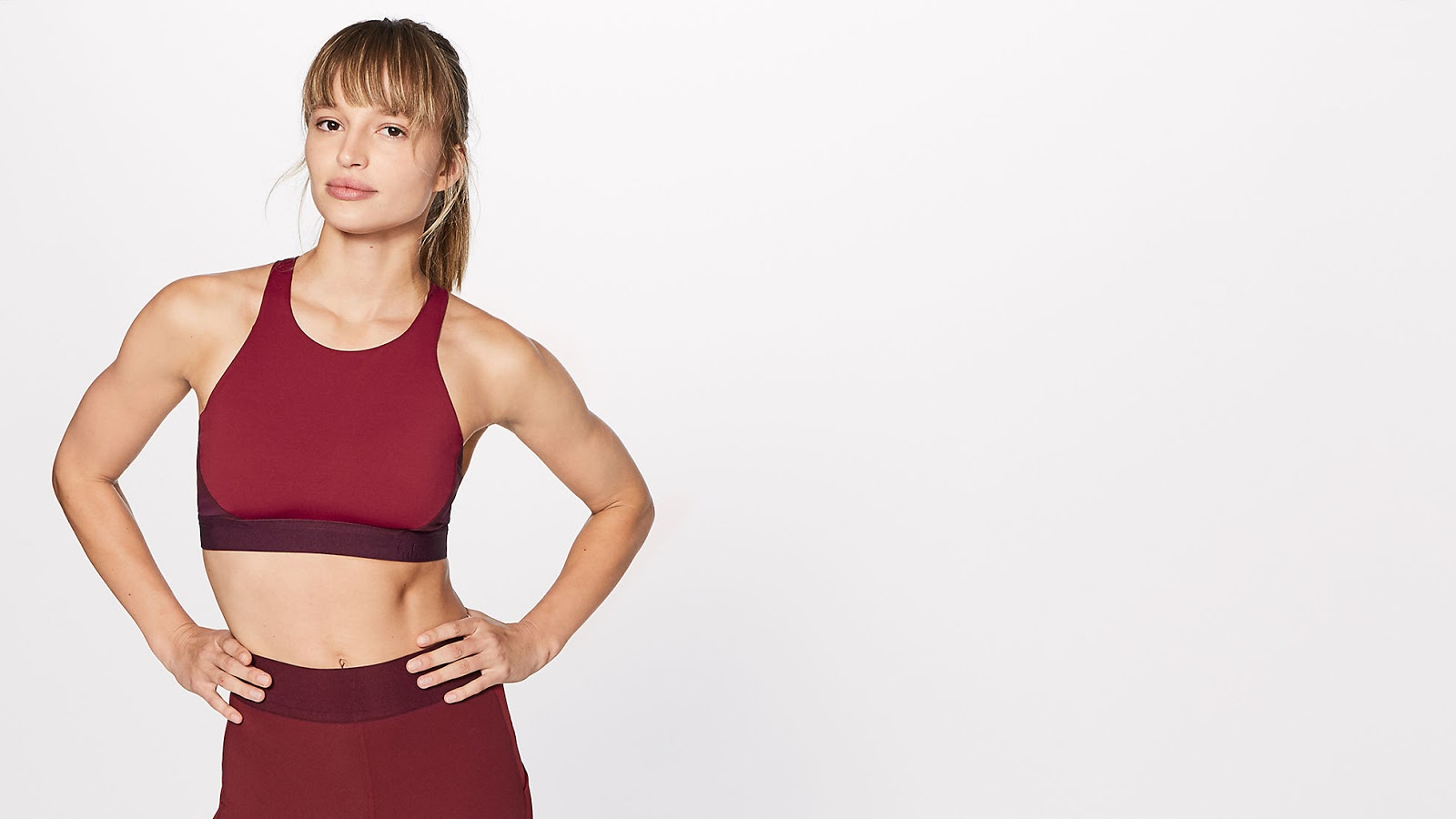 cfe5b6efc6 New Bob and Weave Bra and Box It Out Tights. Shown in Oxblood Deep Rouge  and Heathered Black.
