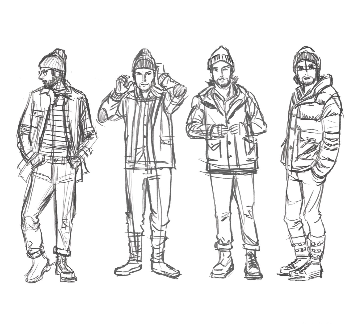 Dan's Sketches: Mens Clothing