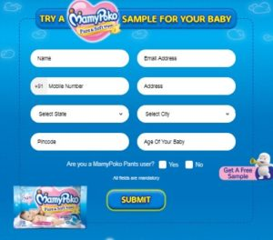 free sample form Get Free MamyPoko Pure and Soft Wipes sample free trick