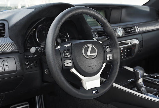Interior view of 2016 Lexus GS-F