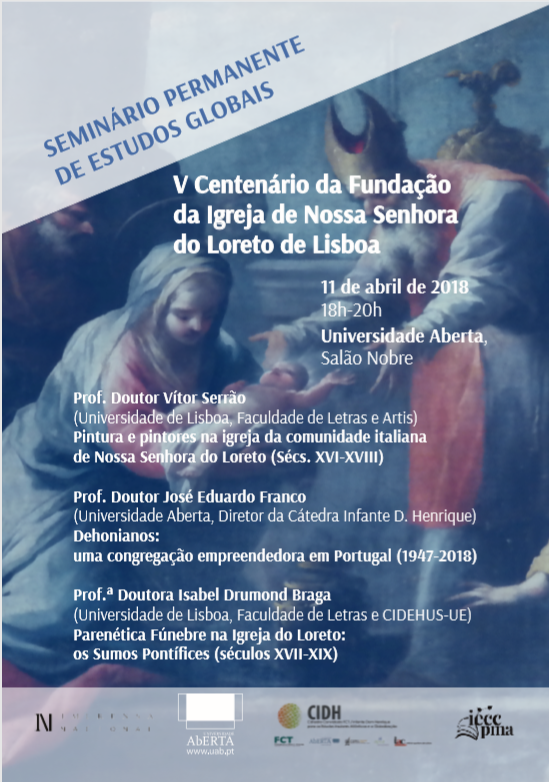 11 aprile - Universidade Aberta - 3 conferenze sui 500 anni della Chiesa di Loreto a Lisbona