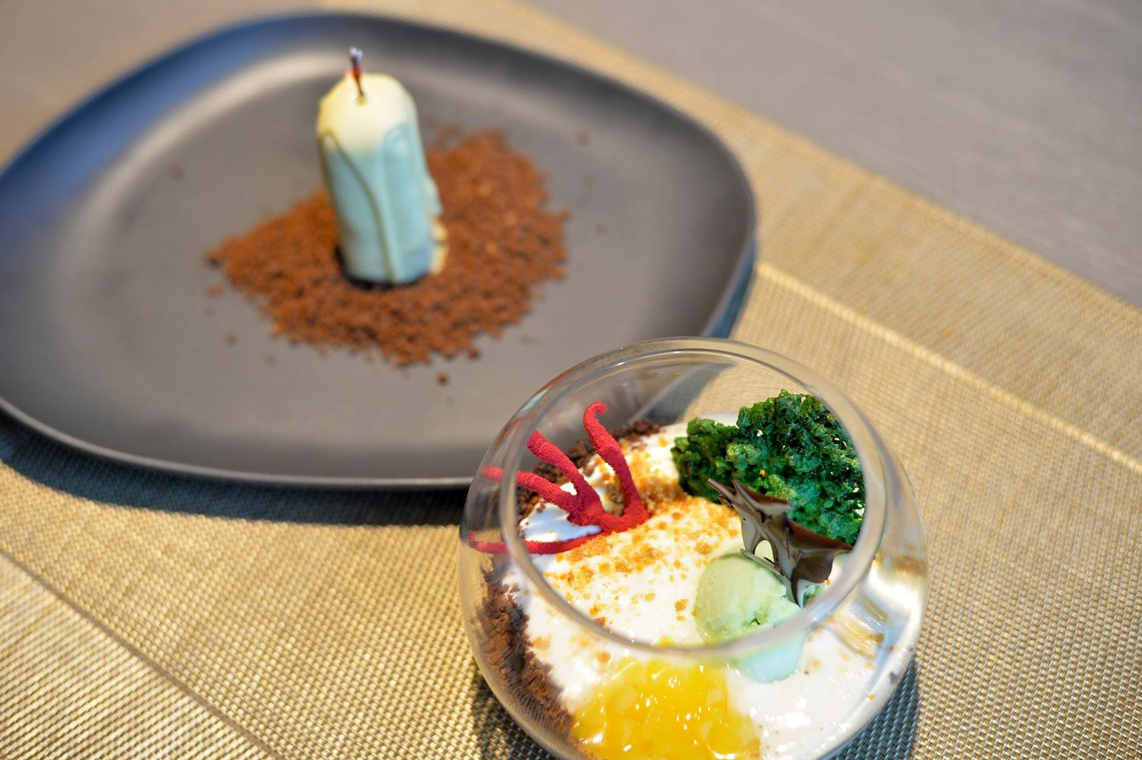 nimu azotea rooftop restaurant leon dessert vela candle cumpleaños birthday fish bowl pecera