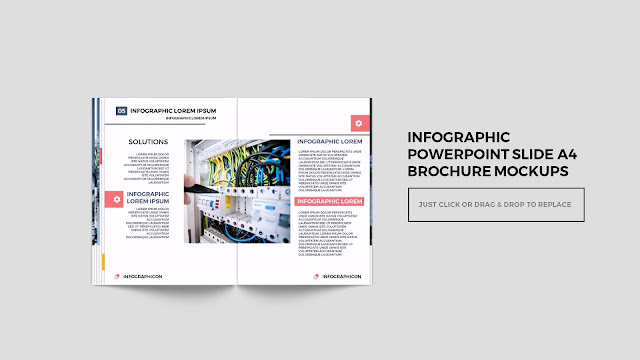 Infographic Multi Page Brochure Powerpoint Mockup Slide6