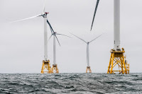 The Block Island Wind Farm off the coast of Rhode Island. (Credit: National Renewable Energy Lab/flickr) Click to Enlarge.
