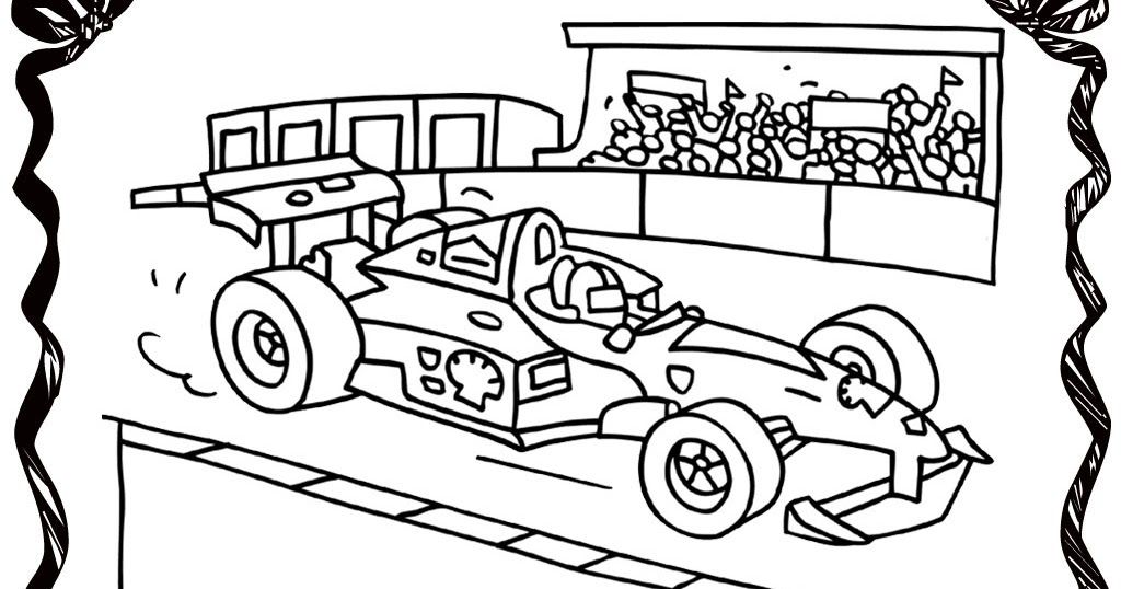 coloring pages race track-#17