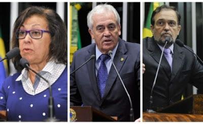 Senadores baianos votaram a favor da manutenção do afastamento de Aécio