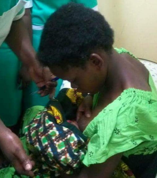 nigerian girl gives birth monster baby
