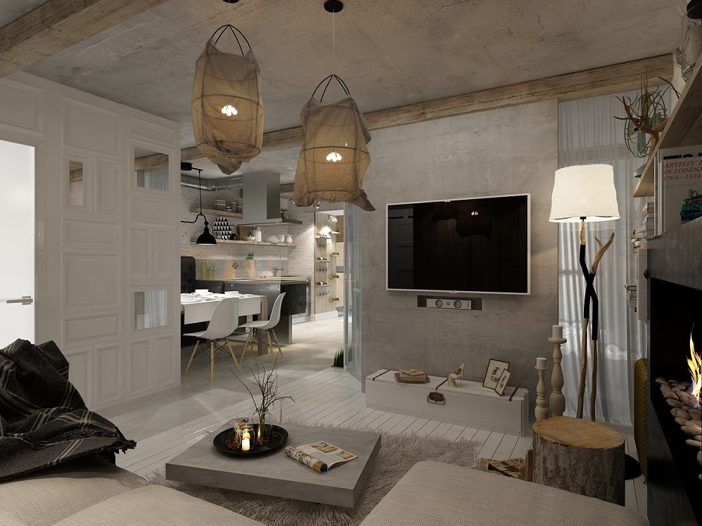 Decordemon urban apartment by izumoff design studio for Donker interieur