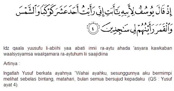 Amalan Surat Yusuf Ayat 4 Dan Surat Thaahaa Ayat 39 Untuk