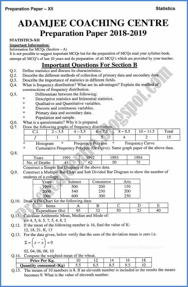 statistics-xii-adamjee-coaching-guess-paper-2019-commerce-group