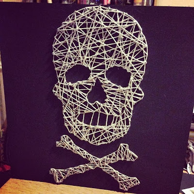 notanotheroneamy d i y my attempt at halloween skull. Black Bedroom Furniture Sets. Home Design Ideas